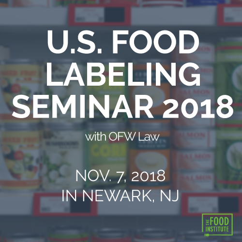 U.S. Food Labeling Seminar 2018