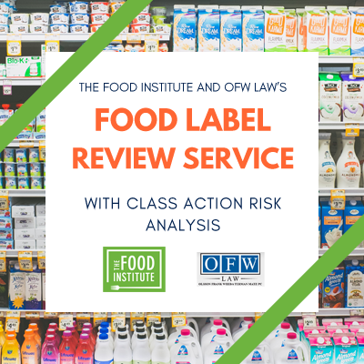 Food Label Review - Basic Compliance with FDA Regulations